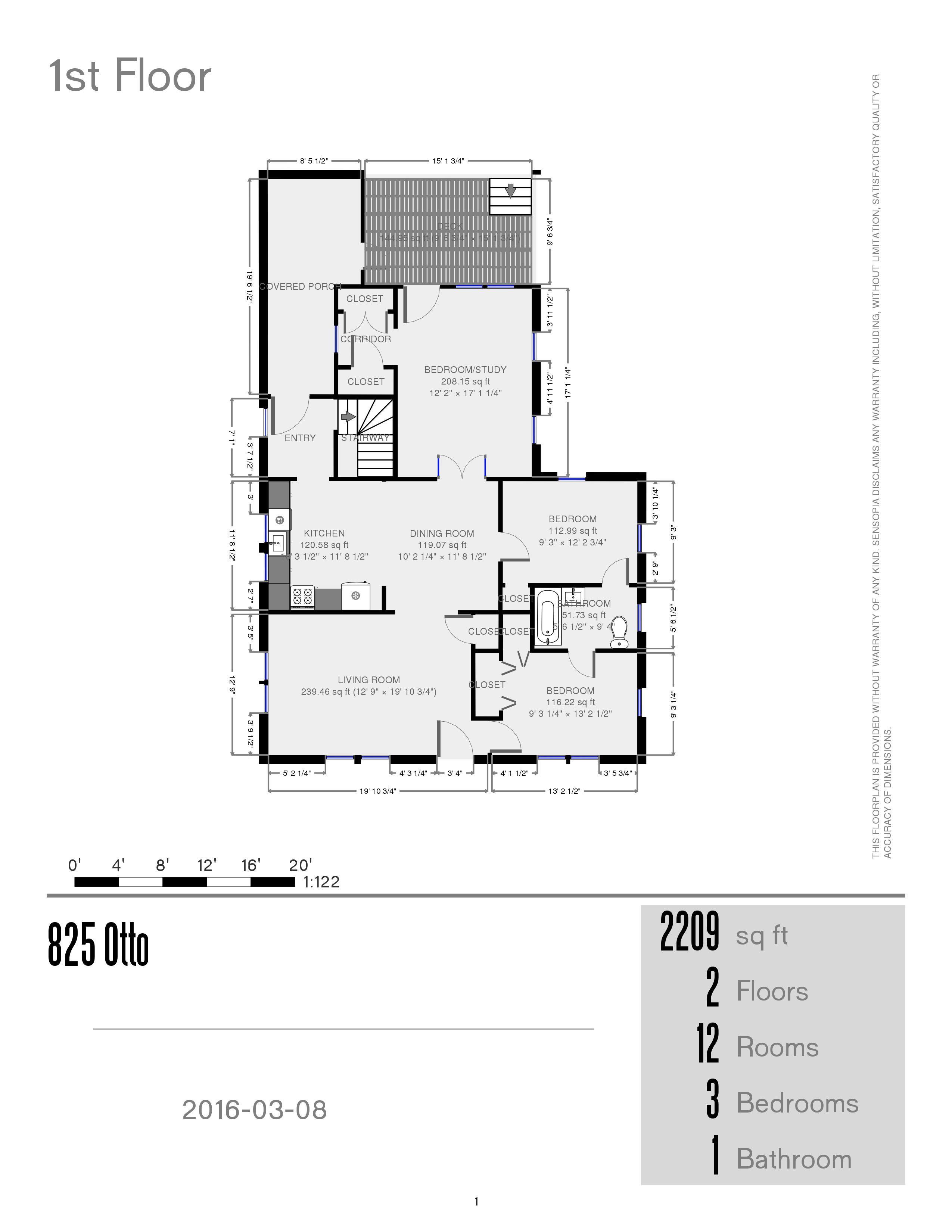 Prestige properties llc otto street for Main street homes floor plans